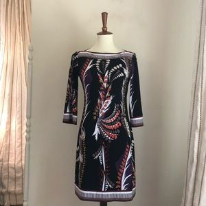 Ali Ro Abstract Patterned Dress